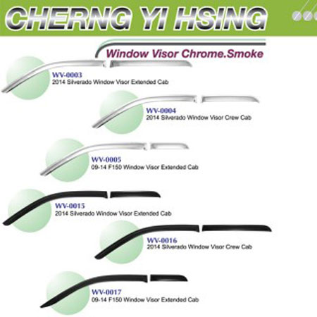 Window Visor Chrome. Smoke