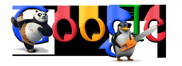 Google Panda and Penguin 熊猫与企鹅