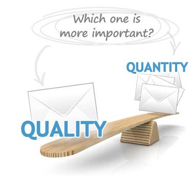 对企业来说, 一封有品质的询问远比一堆无用询问还来的重要,前者可以很快做成订单,后者只能漫长等待