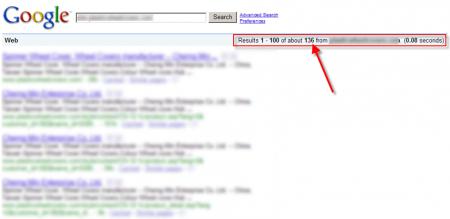改版前Google 只有收录136 笔资料