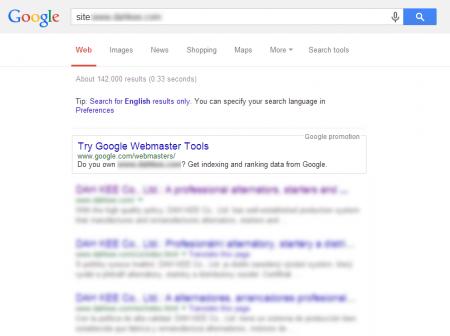 改版後 Google 共收錄 142,000 筆資料  (競爭力增加↑109,977.52%)