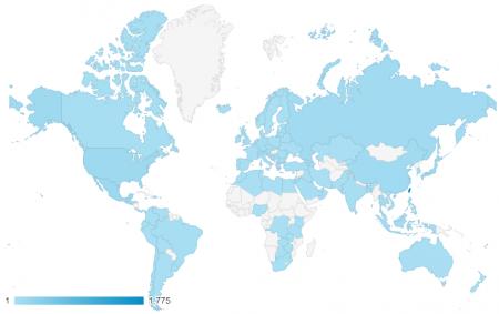近三個月共有 113 個國家訪客