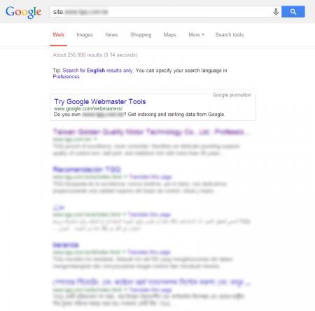 改版后Google 共收录256,000 笔资料(竞争力增加↑35,956.34%)