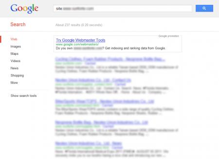 改版前 Google 只有收錄 237 筆資料