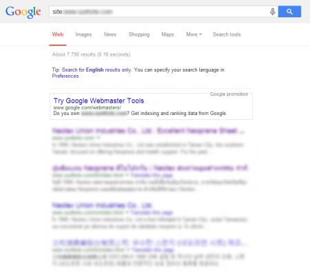改版後 Google 共收錄 7,790 筆資料  (競爭力增加↑3186.92%)