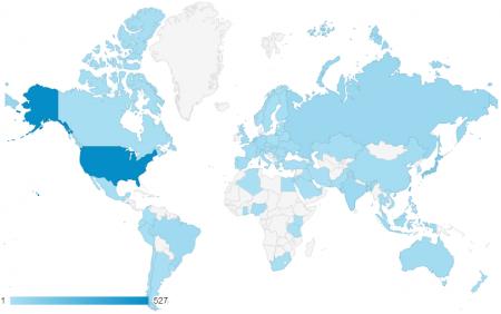 近三個月共有 81 個國家訪客