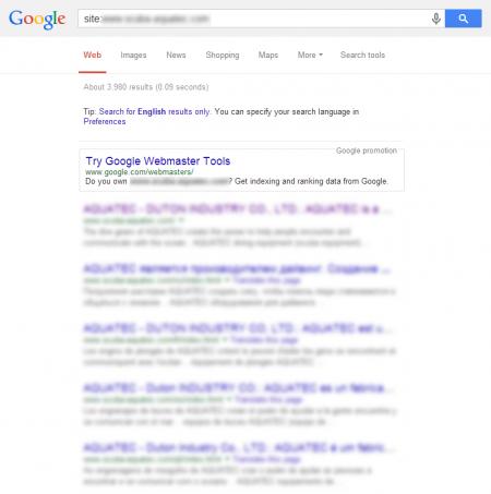 改版後 Google 共收錄 3,980 筆資料  (競爭力增加↑4045.83%)