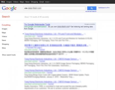 改版前 Google 只有收錄 114 筆資料