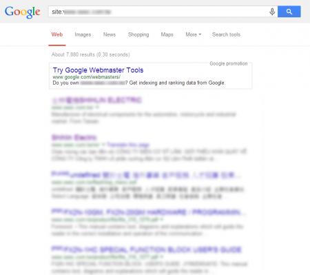 官網包含所有事業部門 Google 共收錄 7,880 筆資料