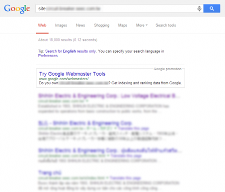 增加單一事業部門網站 Google 共收錄 18,000 筆資料  (競爭力增加↑128.43%)