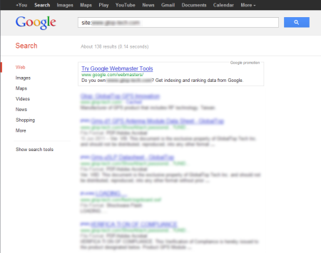 改版前 Google 只有收錄 138 筆資料