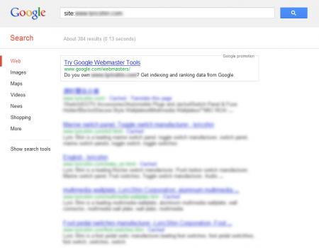 改版前 Google 只有收錄 384 筆資料
