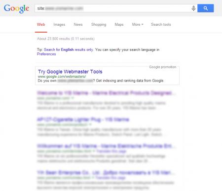 改版後 Google 共收錄 23,800 筆資料  (競爭力增加↑6097.92%)
