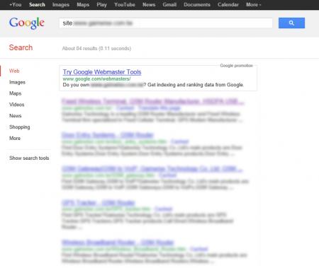 改版前 Google 只有收錄 84 筆資料