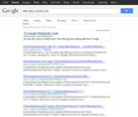 改版前 Google 只有收錄 630 筆資料