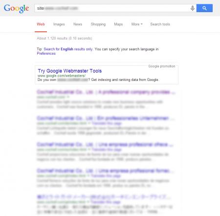 改版後 Google 共收錄 1,120 筆資料  (競爭力增加↑77.78%)