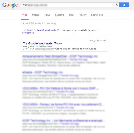 改版後 Google 共收錄 3,530 筆資料  (競爭力增加↑514.98%)