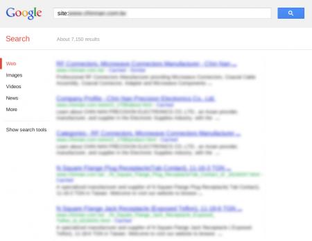 改版前 Google 只有收錄 7,150 筆資料