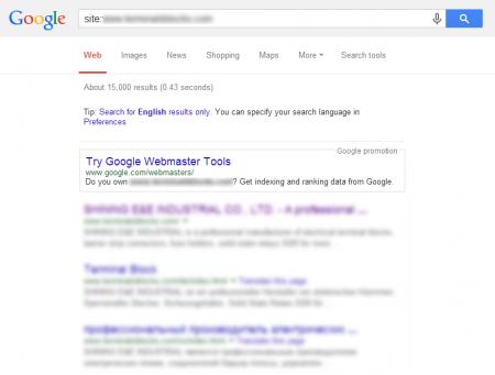 改版后Google 共收录15,000 笔资料(竞争力增加↑15000%)