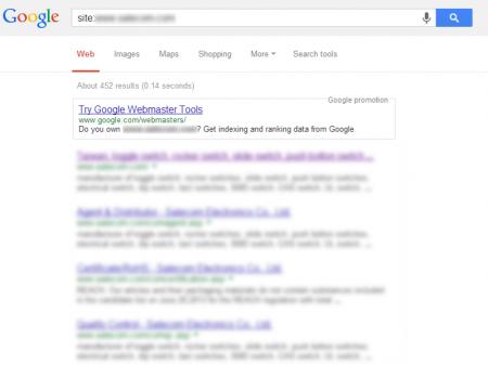 改版前 Google 只有收錄 452 筆資料