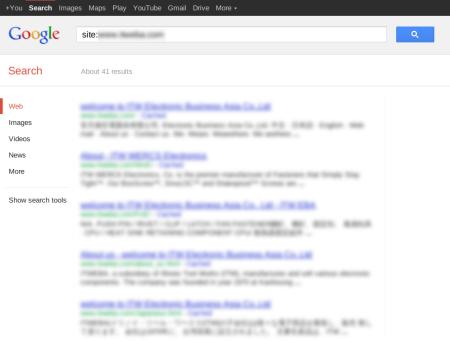 改版前Google 只有收录41 笔资料
