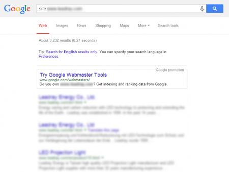 改版後 Google 共收錄 3,232 筆資料  (競爭力增加↑532.49%)