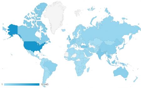 近三個月共有194個國家訪客