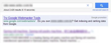 改版前Google 只有收录2,420 笔资料