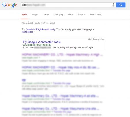 改版後 Google 共收錄 3,800 筆資料  (競爭力增加↑6,129.51%)