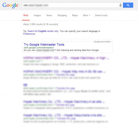 改版后Google 共收录3,800 笔资料(竞争力增加↑6,129.51%)