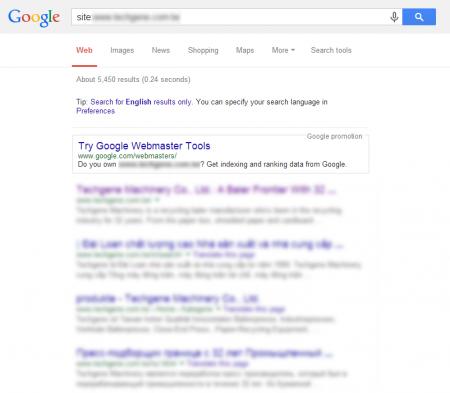 改版后Google 共收录5,450 笔资料(竞争力增加↑3,557.72%)