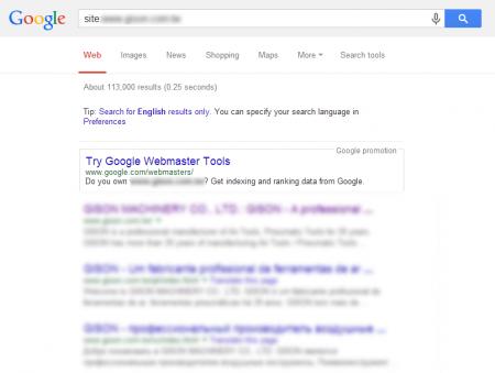 改版后Google 共收录113,000 笔资料(竞争力增加↑1988.72%)