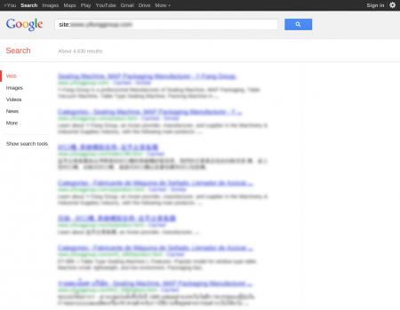 改版前 Google 只有收錄 4,630 筆資料
