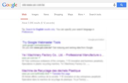 改版後 Google 共收錄 3,090 筆資料  (競爭力增加↑702.59%)
