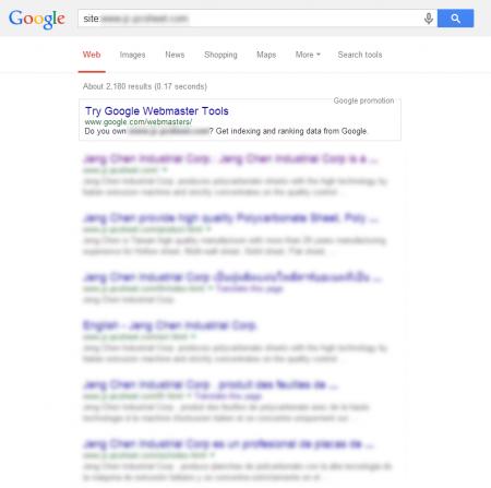 改版後 Google 共收錄 2,180 筆資料  (競爭力增加↑2,124.49%)