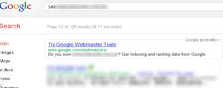 改版前Google 只有收录120 笔资料