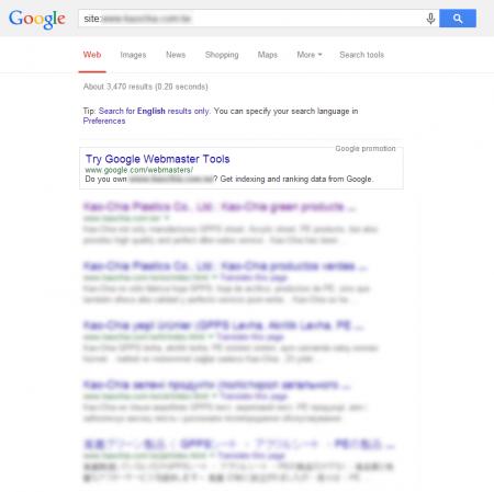 改版后Google 共收录3,470 笔资料(竞争力增加↑2,791.61%)