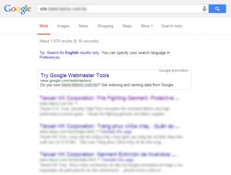 改版後 Google 共收錄 1,670 筆資料  (競爭力增加↑4,960.61%)