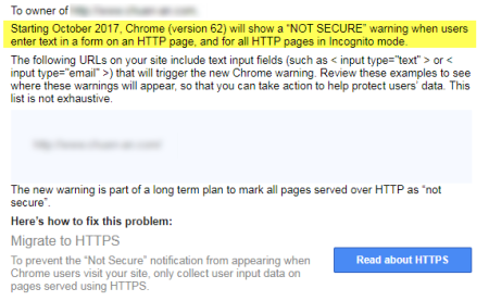 Google Chrome浏览器第62版将针对文字栏位都一律显示为网站不安全