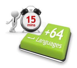 透過翻譯神童的多國語系翻譯服務可以立即擁有超過64種多國語系的網站