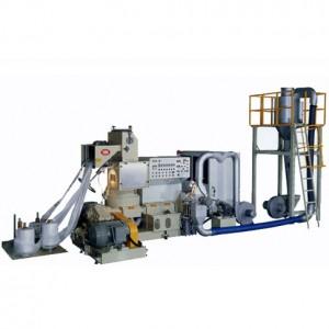 Återvinningsmaskin för luftkyld plaståtervinning