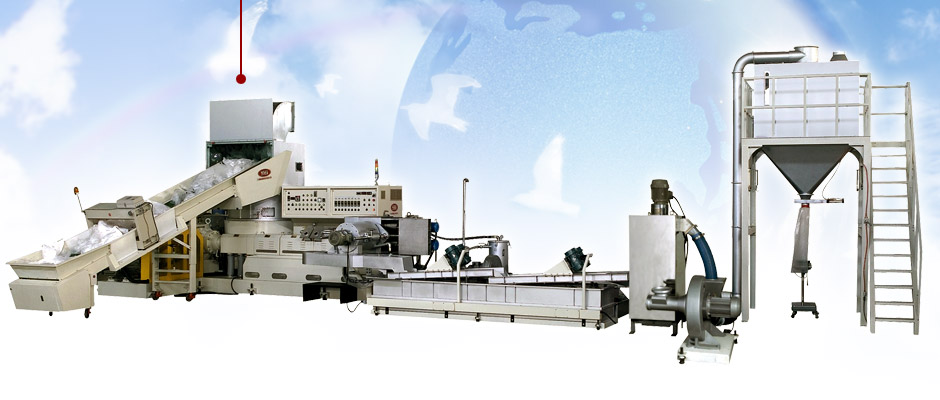 Blown Film Line and Plastic Waste Recycling Flow Chart