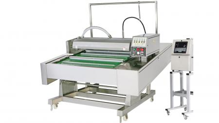Continuous Belt Type Automatic Vacuum Packaging Machine With Injection Printing System