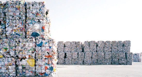 Compacted recycling bales