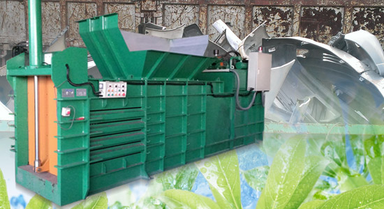 Large object recycling baler for Car bumpers and electronics products