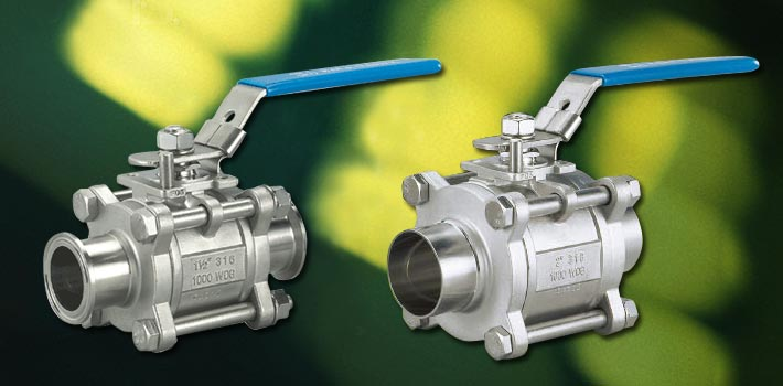 Ball Valve at hindi kinakalawang na asero vacuum components