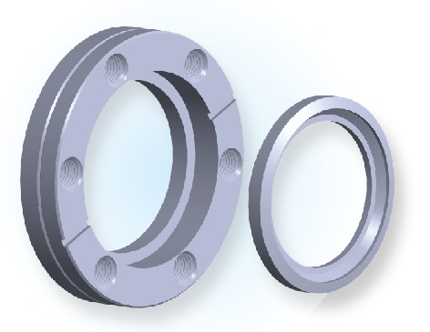 CF Rotatable Bored Blank Tapped Flange