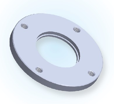 ISO Bored Blank Bolted Flange-Tapped