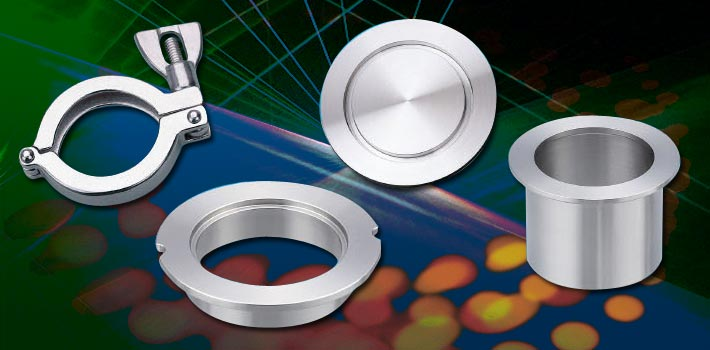 KF Flange Series and stainless steel vacuum components