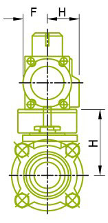 Side View : Mount Actuator For Ball Valve